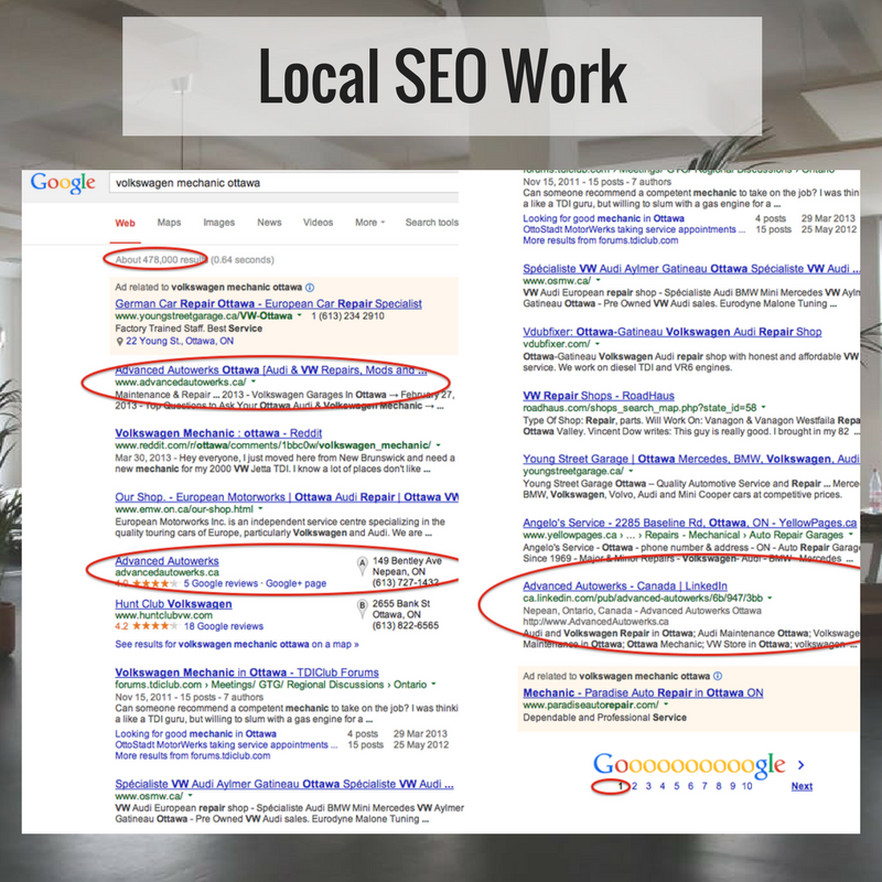 local seo rankings ottawa seo company