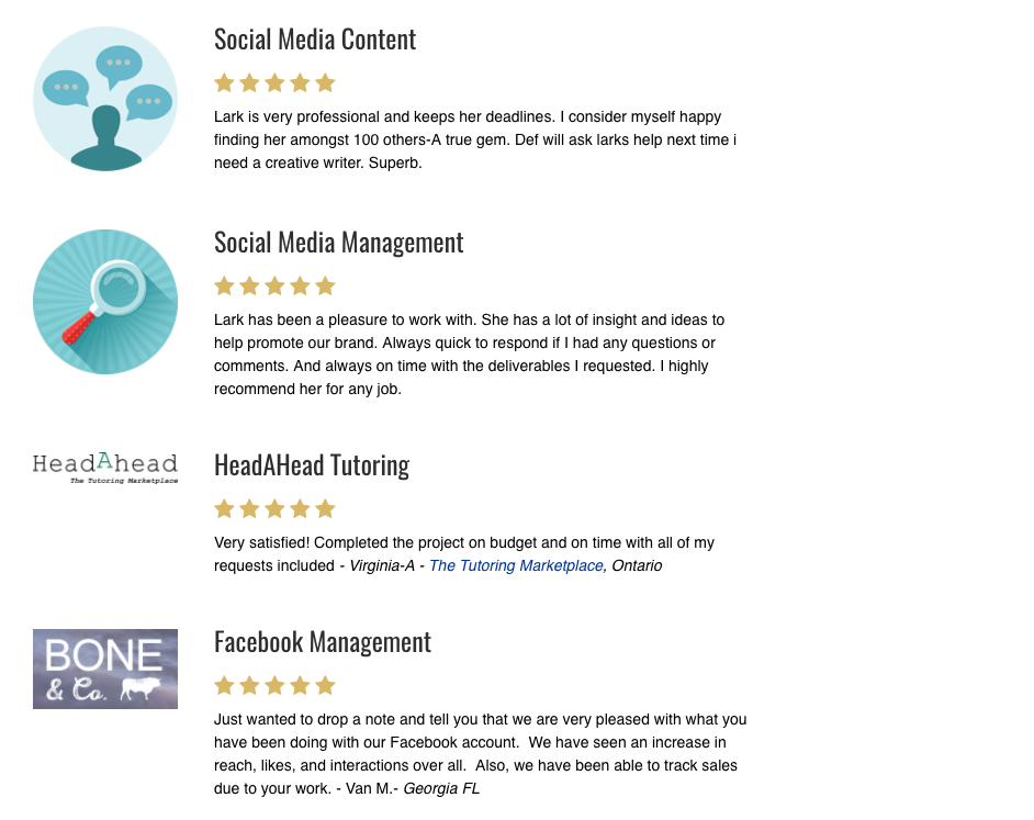 social media management ottawa testimonials