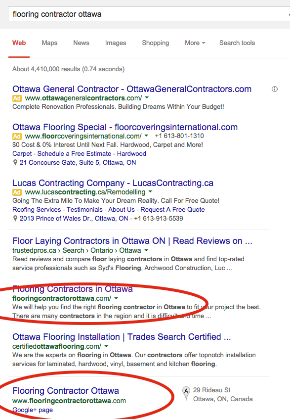 seo rankings ottawa optimization