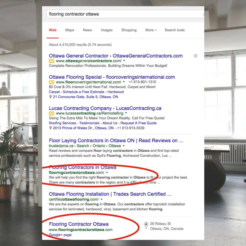 top keyword rankings local seo company ottawa