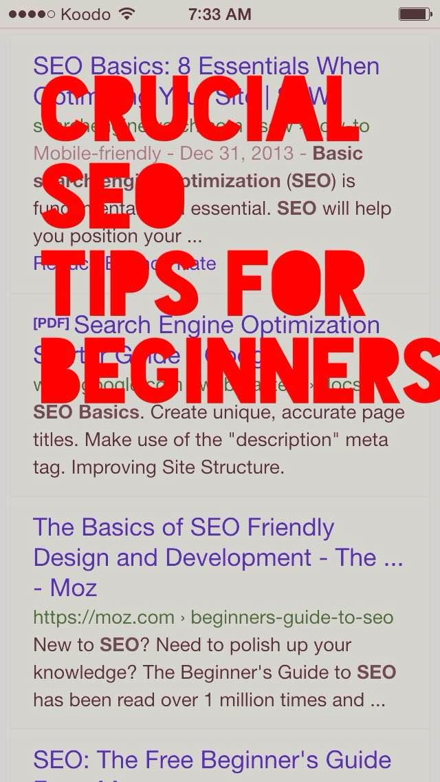 3 seo tips for beginners