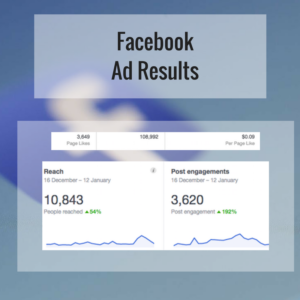 Facebook ad results reach and engagement