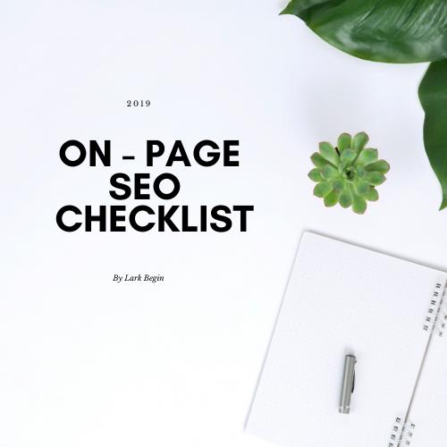 On - Page SEO 2019 Checklist (1)