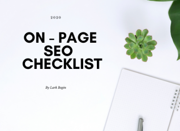 On - Page SEO 2020 Checklist