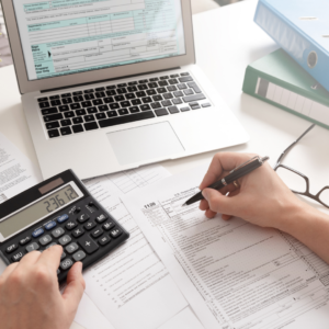 writing with calculator